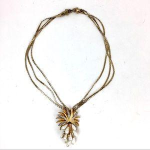 Vintage Pearl Statement Necklace